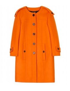 Need this coat- a nice shape and a lovely bright tangerine color.