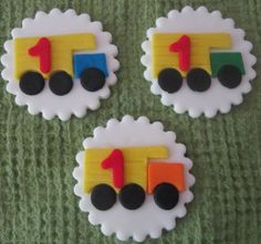 Dump Truck cupcake toppers. $18.00, via Etsy.