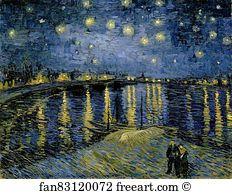Starry Night Over The Rhône  - Art Print
