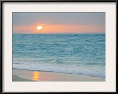 Sunset in Paradise over the Caribbean and on a Beach Framed Photographic Print at AllPosters.com