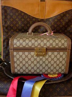 d38795ec074 Ultra RARE Vintage GUCCI Train Case Tote Duffel Luggage Travel Suitcase  Keepall  GUCCI  TrainCase