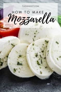 How To Make Mozzarella Cheese At Home - The WHOot Cheese Recipes, Appetizer Recipes, Cooking Recipes, Appetizers, Healthy Recipes, Home Made Mozzarella Cheese, How To Make Cheese, Food To Make, Cooking Cheese