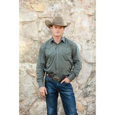 Stetson Green Cowboy Buttondown Shirt