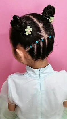 Toddler Hair Dos, Cute Toddler Hairstyles, Lil Girl Hairstyles, Braided Hairstyles, Little Mixed Girl Hairstyles, Easy Little Girl Hairstyles, Girls Hairdos, Short Hair For Kids, Braids Easy