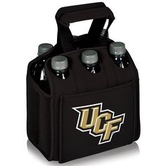 Picnic Time 608-00-179-004-1 University of Central Florida Knights Digital Print Six Pack Beverage Tote in Black