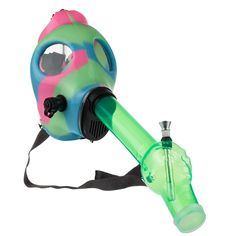 Go Green, Pink And Green, Gas Mask Tattoo, Acrylic Tube, Weed Pipes, Daddy Day, Legos, Bongs Online, Stoner Snacks