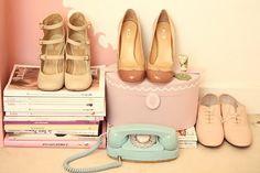 chloe-miu-miu-repetto via The Cherry Blossom Girl Vintage Glam, Mode Vintage, Vintage Love, Vintage Fashion, Vintage Style, Vintage Heels, Vintage Colors, Vintage Clothing, Vintage Inspired
