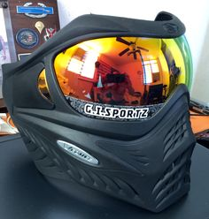 My son vforce grill paintball mask with a super nova lense