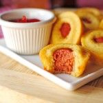Mini Corn Dog Muffins - baking these right now - let's see what my kids think