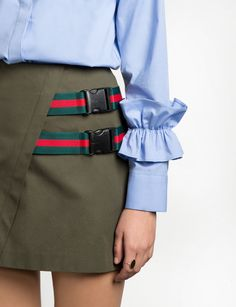 Ruffled Sleeve Cuff Shirt