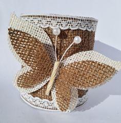 Baby Food Jar Crafts, Tin Can Crafts, Diy Arts And Crafts, Flower Pot Crafts, Butterfly Crafts, Burlap Crafts, Felt Crafts, Tin Can Art, Cardboard Box Crafts