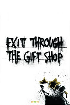Exit Through the Gift Shop Movie Poster - Rhys Ifans, Banksy, Shepard Fairey  #MoviePoster, #Banksy, #Documentary, #RhysIfans, #ShepardFairey