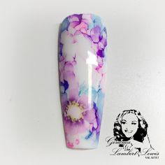 Floral sharpie nail