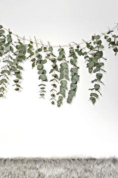DIY eucalyptus garland - a beautiful backdrop for your Christmas table - easy to make and smells divine too | your DIY family