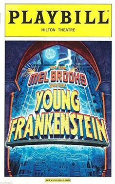 Sutton Foster YOUNG FRANKENSTEIN Roger Bart 2007 Opening Night Playbill @ niftywarehouse.com #NiftyWarehouse #Frankenstein #Halloween #Horror #HorrorMovies #ClassicHorror #Movies