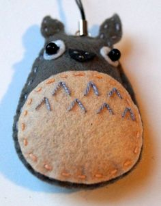 Cute totoro keychain by TosTosia