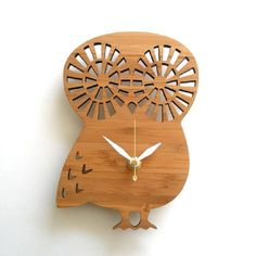 Modern Baby Clock - OWL by Decoylab