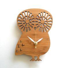 Modern Baby Clock - OWL by Decoylab $58