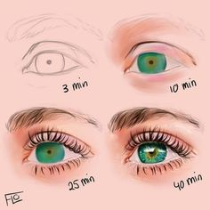 Eye Drawing Tutorials, Digital Painting Tutorials, Digital Art Tutorial, Drawing Techniques, Art Tutorials, Drawing Tips, Digital Paintings, Drawing Lessons, Digital Drawing