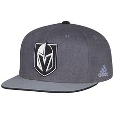 77816cd6438 Vegas Golden Knights adidas Travel   Training Adjustable Snapback Hat - Gray