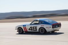 Gary Cook in his 1970 Datsun 240Z.