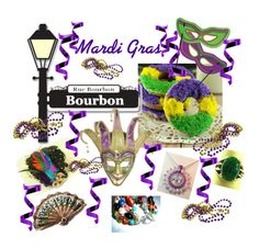 Mardi Gras by glassdreamshawaii on Polyvore featuring art