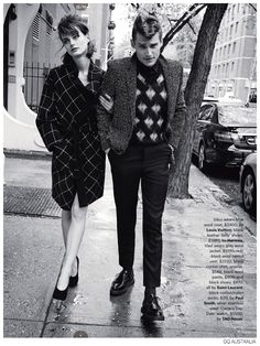 Vladimir Ivanov + Demy Matzen Model 60s Inspired Fashions for GQ Australia image Mod Styles Fashion Editorial GQ Australia 010