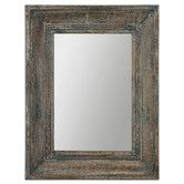 Found it at Wayfair - Missoula  Wall Mirror (might need a taller one but I like the old wood texture)