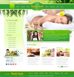 Giao diện website Spa làm đẹp Bác Sĩ Thanh Tuyền