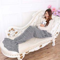 Crocheted Mermaid Tail Blanket - http://www.decorationarch.net/home-design-tips/crocheted-mermaid-tail-blanket.html