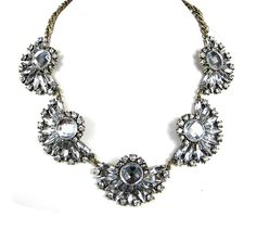 Statement Necklace Beaded Necklace Crystal by ShopluvmeJewelry, $22.00