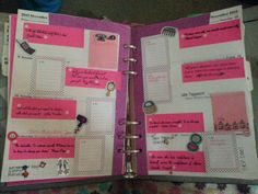 FiloFax layout idea. I printed my quotes this week on sticky notes for a cleaner look. Love it!