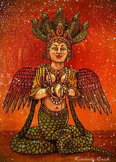 Snake Goddess revered in India.  To stay healthy, shed your old skin frequently and with full surrender.  fr:  heartsong.org.uk