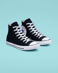 4ce6f811c Chuck Taylor All Star Oversized Logo High Top Black White Black