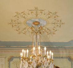 Decorative Stencil Marie-Antoinette Ceiling Medallion - Classic French Decor. $54.95, via Etsy.