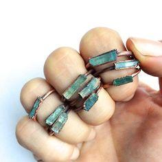 Chunky aquamarine ring