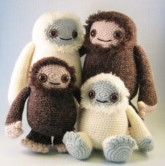 Ravelry: Yeti and Bigfoot Amigurumi pattern by Lucy Collin