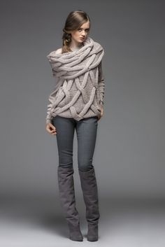 Ribbed Cashmere Cotton Sweater Pale Grey Melange | Them, Woman ...