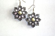 Origami Earrings  Origami Jewelry  Black and by PaperImaginations, $19.25