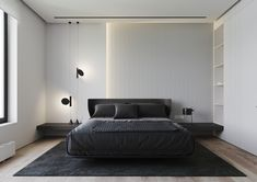 Home Interior Salas Lime Rock on Behance.Home Interior Salas Lime Rock on Behance Modern Bedroom Design, Master Bedroom Design, Home Decor Bedroom, Home Interior Design, Minimalist Bedroom, Minimalist Home, Hotel Room Design, Home Remodel Costs, Scandinavian Style