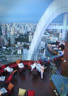 Bangkok's Red Sky Rooftop Bar at the Centara Grand hotel - incredible!