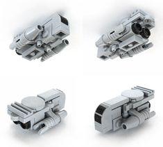 Shuttle design, would love to build this in minifig scale. Lego Spaceship, Spaceship Concept, Legos, Lego Lego, Nave Lego, Lego Star Wars Mini, Lego Guns, Brick Art, Lego Ship