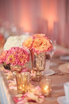 Old mansionsandart galleriesare two of my favorite venue options, sowhy not combine the beauty of them both? That's what Jennifer Bergman did when designing this bash right here; a sweet ceremony at the mansion, followed by a blush and gold