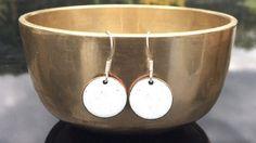 White bauble earrings  Snow White christmas by iamrachelshop