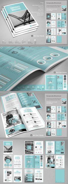 Corporate Brochure on Behance - Graphic Hit Magazine Design Inspiration, Magazine Layout Design, Brochure Design Inspiration, Book Design Layout, Magazine Layouts, Corporate Brochure Design, Creative Brochure, Brochure Layout, Business Brochure