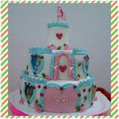 #tortacumpleaños #castillo #princesa #doñapatriciareposteria