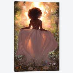 Black Love Art, Black Girl Art, Art Girl, Black Art Painting, Black Artwork, Afro Painting, African American Art, African Art, Arte Black