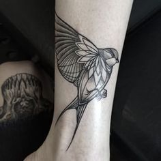 Or a line-drawn bird. | 49 Bloody Brilliant Black And Grey Tattoo Ideas