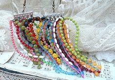bohemian gypsy fringe earrings assemblage funky boho summer