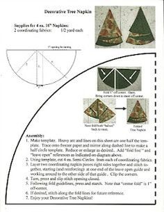 Christmas Tree Napkins